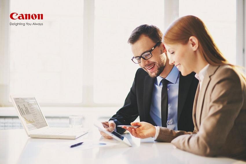 """แคนนอน บุกตลาดองค์กร ชูระบบ """"Canon Smart Office Solution"""" หนุนการเติบโตธุรกิจดิจิทัลปี 2021"""