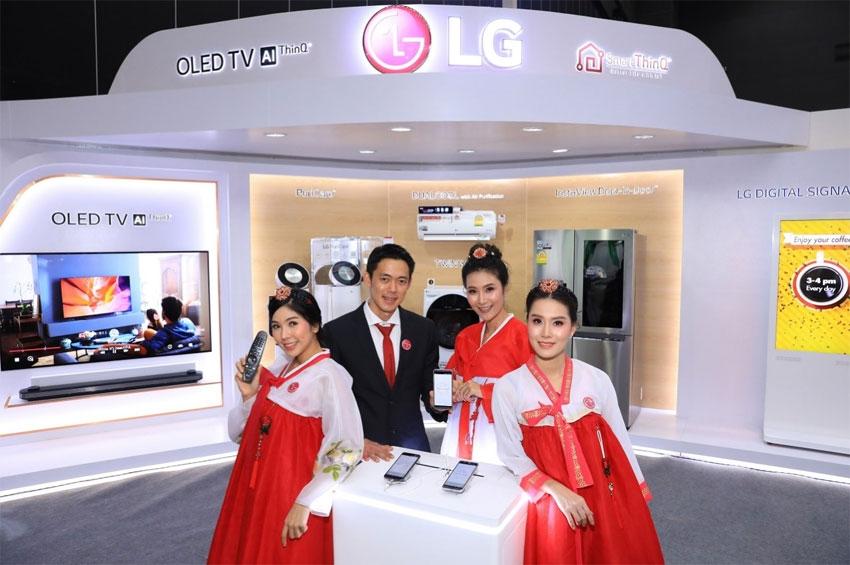"""แอลจีตอกย้ำผู้นำนวัตกรรม AI และ IoT ในเครื่องใช้ไฟฟ้า ร่วมแสดงในงาน """"Korea Expo 2018, BANGKOK""""  ตอบโจทย์นโยบายประเทศไทย 4.0"""