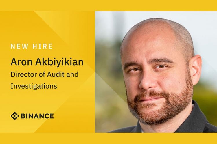 Binance แต่งตั้ง Aron Akbiyikian เป็นผู้อำนวยการฝ่ายตรวจสอบและสืบสวนคนใหม่