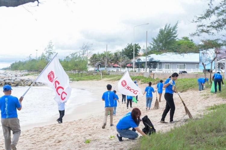 SCG เดินหน้าพิทักษ์ทะเล บูรณาการจากต้นทางถึงปลายทาง :  จัดการขยะบก – ทุ่นกักขยะลอยน้ำ – บ้านปลา   ขานรับวันทะเลโลก